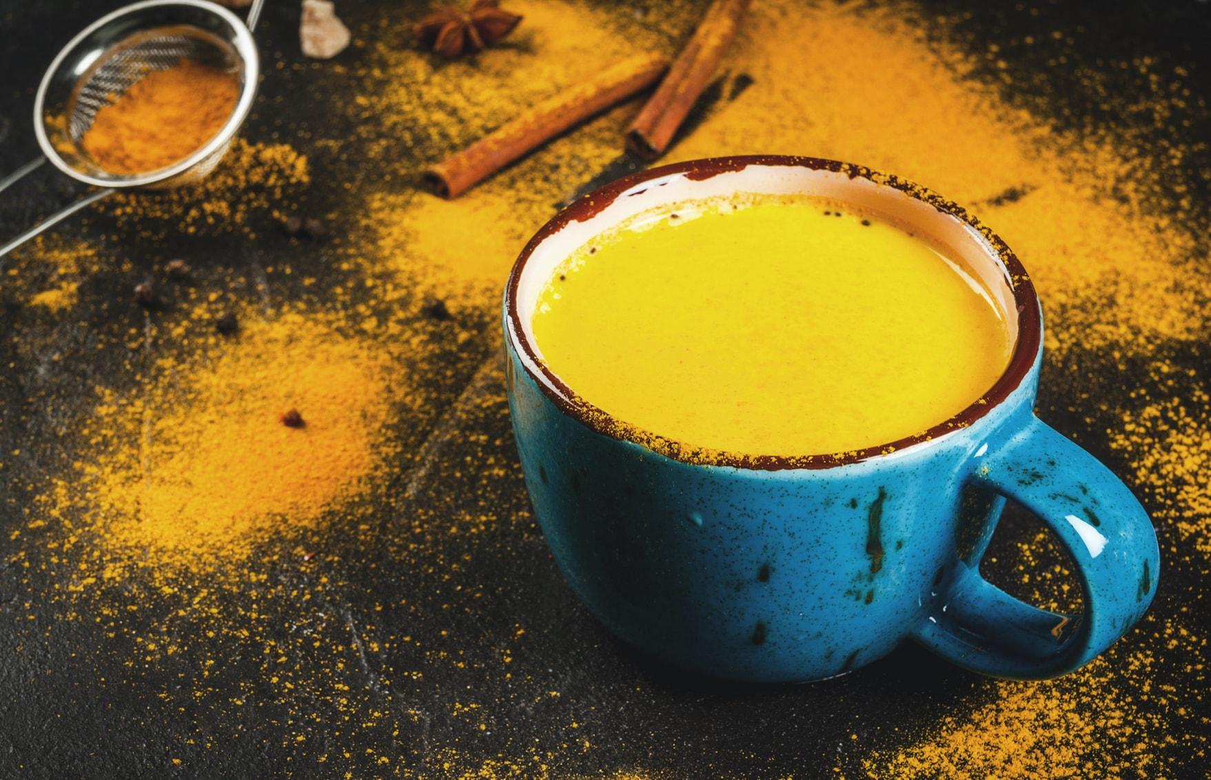 Goldene Milch Kurkuma